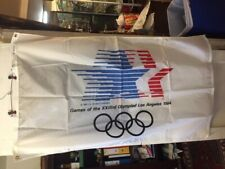 Vintage 3' by 5' 1984 Official Los Angeles Olympic Nylon Flag