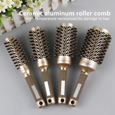 Professional Thermal Ceramic Ionic Round Barrel Anti Slip Handle Gold Hair BI_es
