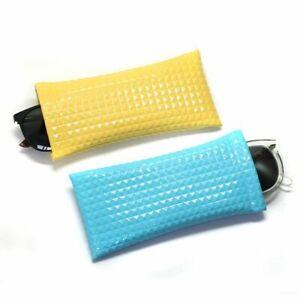Sunglasses Case Pouch Bag Solid Color Mobile Phone Portable Glasses Storage Bag