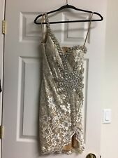 Formal Terani Cream/Nude Dress. Size 4