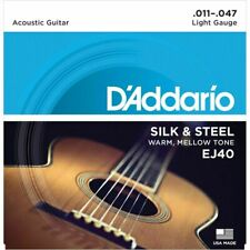 D'Addario EJ40 Silk & Steel - String Set For Western Guitar