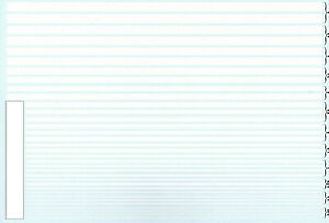 Streifen weiß 0,25 - 5,0 mm Stripes white 1:43 Decal Abziehbil