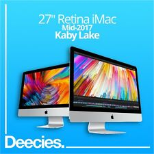 "NUOVO Apple Retina iMac 27"" 64GB RAM 5k 4.2Ghz kaby Lake i7 3TB Fusion Windows 10"