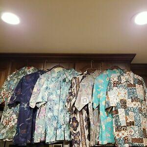Lot of 8 Cooke Street,Reyn Spooner, Hilo Hattie Short Sleeve XL Hawaiian Shirts