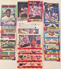 Boston Red Sox MLB Collectable Baseball Cards Lot of 19