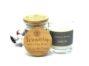 Scentiment Gifts - FRIENDSHIP SENTIMENT CANDLE - Cotton Fresh
