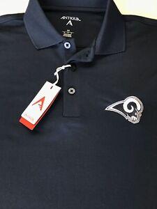 NWT Antigua Los Angeles Rams Medium Polo Shirt Embroidered
