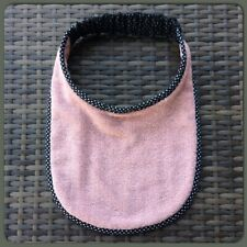 Newfoundland Big Dog drool slobber bib large breed Plain pink Towelling A