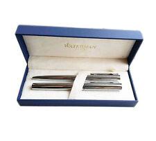 Waterman Pen Set Fountain Pen  Fine Pt  & Ballpoint Pen Set  Silver New In Box