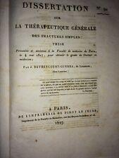 DISSERTATION SUR LA THÉRAPEUTIQUE DES FRACTURES SIMPLES. 1827