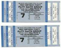 Tom Petty Concert Ticket Set of 2 1978 Tampa Blue