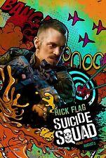 Suicide Squad Movie Poster (24x36) - Joel Kinnaman, Rick Flag, Harley Quinn, v27