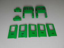 Lego® Eisenbahn Zubehör 9 tlg. Türen,Licht und Cockpit in grün