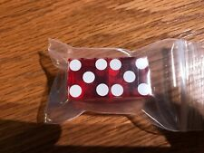 Beau Rivage Casino - Red Craps Table Dice - Biloxi Mississippi