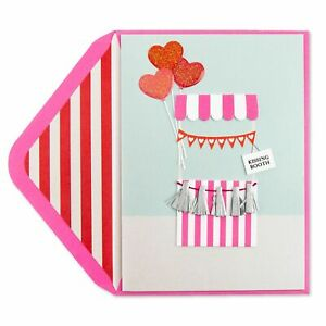 Papyrus  Valentine's Day Card - All My Kisses Kissing Booth - Retails for $7.95