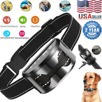 Upgraded Rechargeable Waterproof Anti Bark No Bark Dog Training Shock Collar US