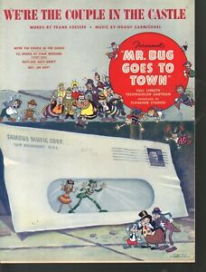 We're The Couple in the Castle 1941 Mr Bug (Hoppity) Goes to Town Sheet Music