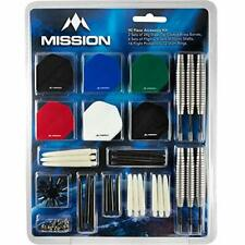 Mission 90pc Dart Set, 2 Sets of 24g Steel Tip, Flights & Shafts (6 Sets Each)