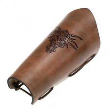 Leather bracers Dragon, Dragon, brown, Fantasy, Gothic, Larp
