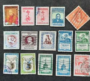 Lot of 30 Used Dominican Republic stamps