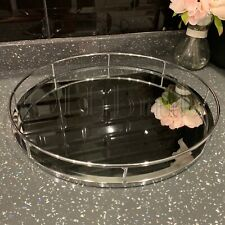 40cm round Silver mirror candle tray plate wedding table decorative mirror tray