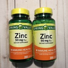 (2) Zinc 50mg Dietary Supplement Immune Health 400 Caplets Exp 4/22 FREE SHIP