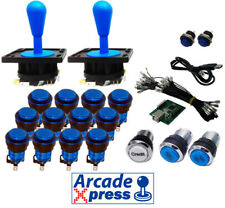 Arcade Kit Pro x2 Industrias Lorenzo joysticks azules 15 botones iluminados LED