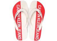 Calvin Klein Jeans ERROL JELLY S0604 Bianco Rosso Infradito Uomo Mare Doccia