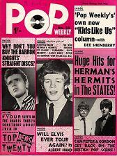 Pop Weekly Magazine 15 May 1965      Manfred Mann     Kathy Kirby     Bob Dylan