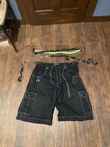 Vintage 90s TRIPP NYC Cargo Zip Off Shorts Raver Club Goth Pants XL Bondage