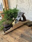 Great Heavy Tight Mouth Panel Plane Brass Gunmetal Rosewood 15 1/4 Inches