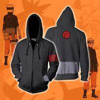 Anime Naruto0 Uzumaki Cosplay Hoodie Men Women Sweatshirt Zip up Jacket Sweater