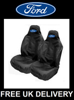 FORD - Black Sports Car Seat Covers Protectors x2 Recaro / FORD FOCUS ST