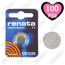 Renata Batteria 100 x CR1225 Litio 3V Batteria a Bottone CR 1225 Pile A Bottone