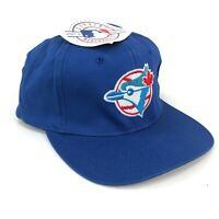 Vintage Toronto Blue Jays Snapback Hat Cap Eds West Blue Red White Logo NWT