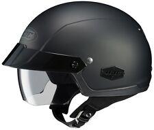HJC IS-Cruiser Motorcycle Half Helmet Matte Black XL Extra Large Sunshield DOT