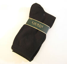 3 PR Ralph Lauren Ladies Socks Cotton Blend Trouser Diamond Pointelle - NEW