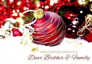 Warm Christmas Wishes Brother & Family - Christmas Greeting Card - 20995