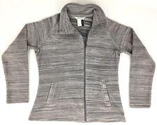 ORVIS Womens S Gray Passport Adventure Asymmetrical-Zip Fleece Jacket/Coat/Liner