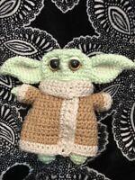 """Baby Yoda Crochet From The Mandalorian 6 1/2"""""""