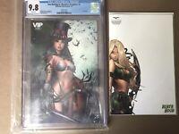 Van Helsing vs Dracula's Daughter CGC 9.8 & Robyn Hood: Outlaw 6 Sketch Variant