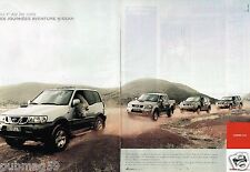 Publicité Advertising 2002 (2 pages) Nissan 4X4 Terrano Pick-up X-Trail Patrol