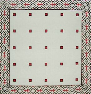 """French Country Print Cotton Napkin 17"""" x 17"""" Black & Red"""