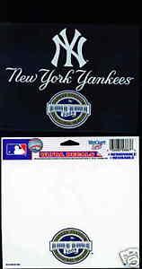 """2009 NY New York Yankees Inaugural Yankee Stadium logo 4.5""""x 6"""" static sticker"""