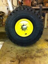 SET OF FOUR MICHELIN XZL RADIAL TIRES & RIMS FOR VOLVO L40, L45, L45B LOADER