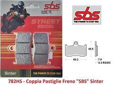 782HS - 1 Coppia Pastiglie Freno Anteriori SBS Sinter per Victory Boardwalk ABS