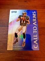 Carson Wentz (Blue Prizm) Call to Arms - 2020 Panini Playoff - NFL Football Card