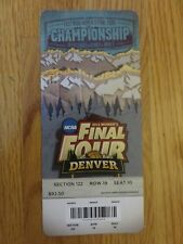 2012 NCAA Final Four FINALS Women's Ticket S10 BAYLOR BEARS National Champs