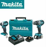 Makita XT269R 18V LXT Li‑Ion Compact Brushless Cordless 2‑Pc. Combo Kit (2.0Ah)