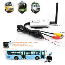 2.4GHz Wireless AV Cable Transmitter&Receiver Set 12-24V For Truck Bus Camera